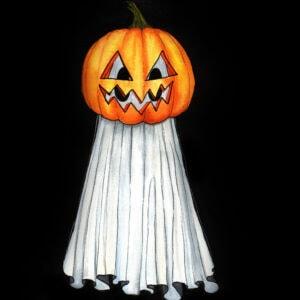 Pumpkin Head Ghost
